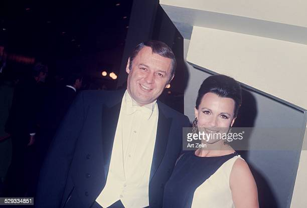 Rod Steiger and Claire Bloom in formal wear circa 1970 New York