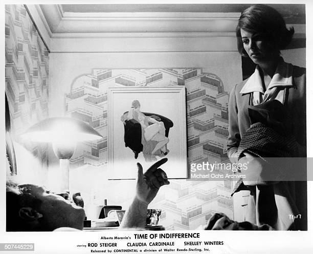 Rod Steiger talks with Claudia Cardinale in a scene from the movie 'Time of Indifference' circa 1964
