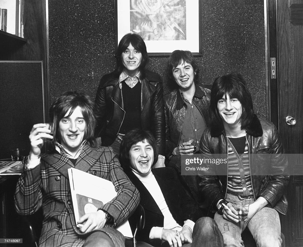 Rod Stewart 1974 in The Faces with Ron Wood, Ian McLagan, Ronnie Lane and Kenny Jones during Rod Stewart & The Faces File Photos in Los Angeles, . (Photo by Chris Walter/WireImag
