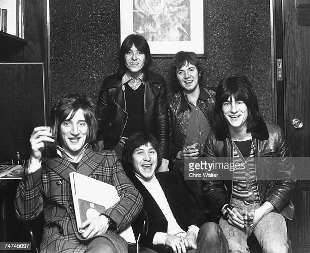 Rod Stewart 1974 in The Faces with Ron Wood Ian McLagan Ronnie Lane and Kenny Jones during Rod Stewart The Faces File Photos in Los Angeles Photo by...