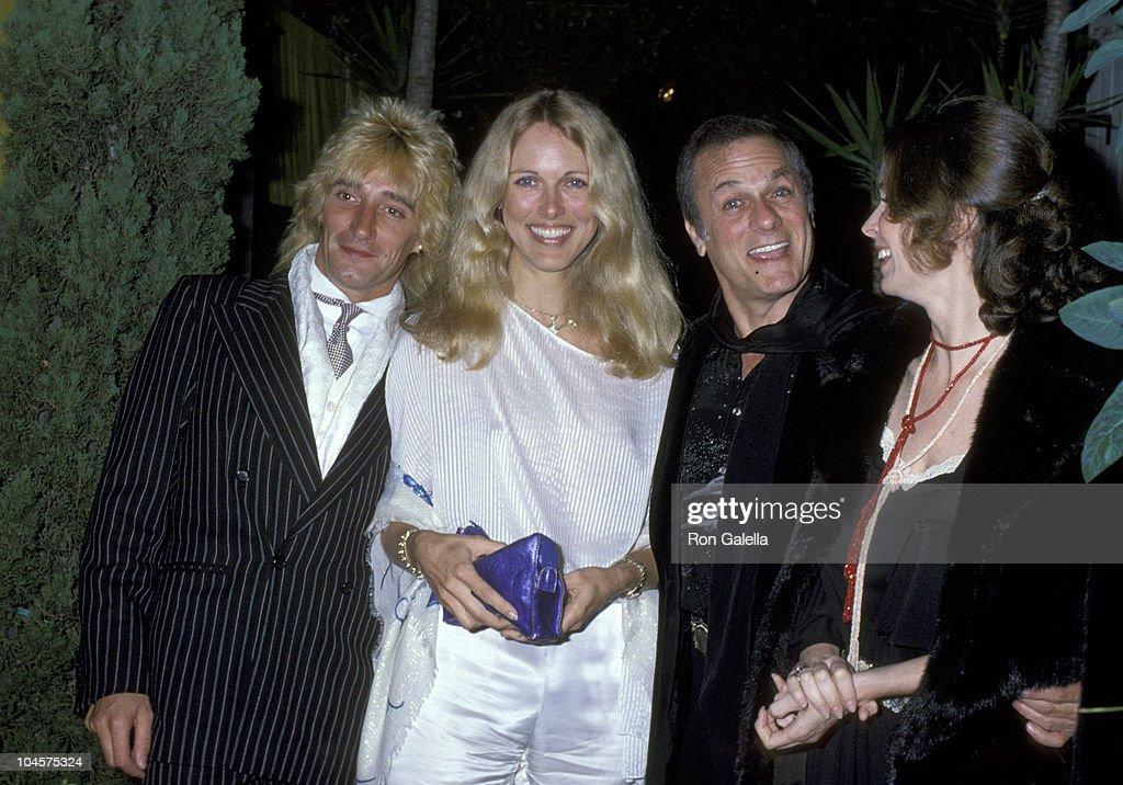 Rod Stewart Alana Hamilton And Tony Curtis And Wife Leslie Allen