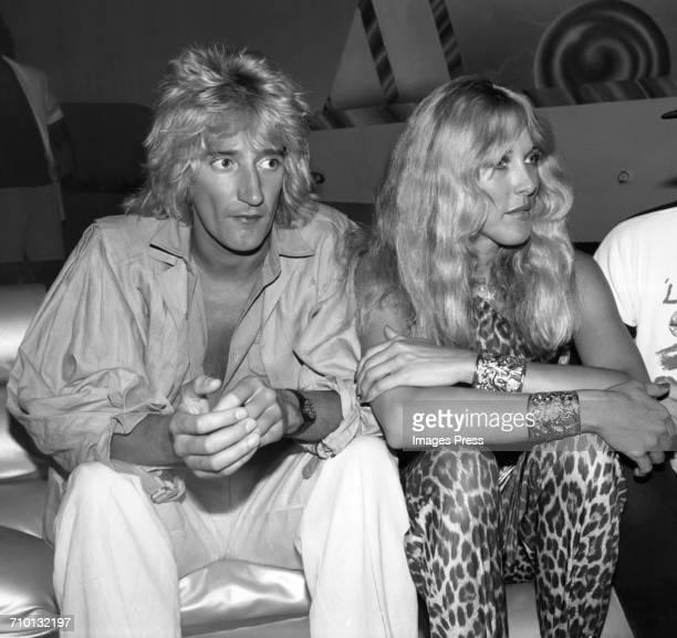 Rod Stewart and Alana Hamilton at Studio 54 circa 1978 in New York City