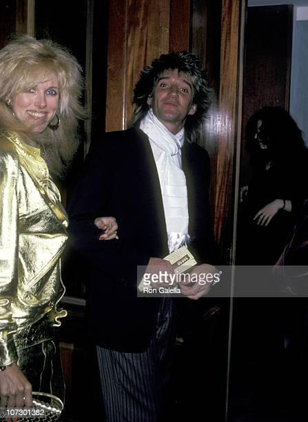 Rod Stewart and Alana Hamilton during Rod Stewart and Alana Hamilton Sighting at La Camilla Restaurant in New York City November 27 1981 at La...