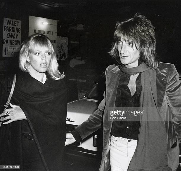 Rod Stewart and Britt Ekland during Robert Altman's Opening Party March 15 1977 at The Roxy Club in Los Angeles California United States