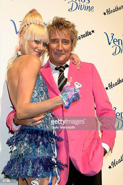 Rod Stewart and daughter Kimberly Stewart Attend Heatherette Holiday 2004 on April 1 2004 in Culver City California