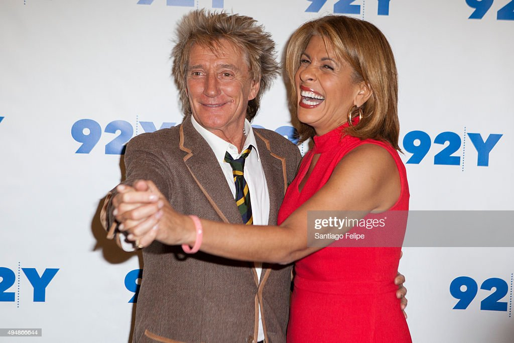Rod Stewart and Hoda Kotb attend 92nd Street Y Presents: Rod Stewart In Conversation with Hoda Kotb at 92nd Street Y on October 29, 2015 in New York City.