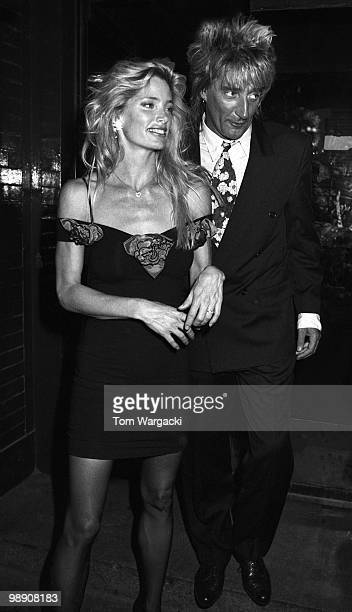 Rod Stewart and Kelly Emberg at Tramp Club on May 20 1989 in London England