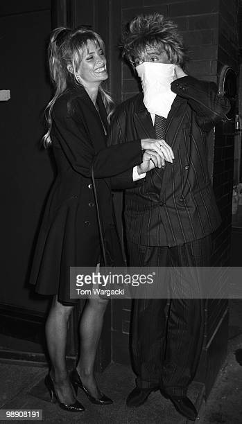 Rod Stewart and Kelly Emberg at Tramp Club on May 9 1988 in London England