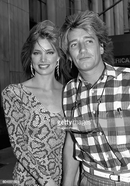 Rod Stewart and Kelly Emberg circa 1984 in New York City