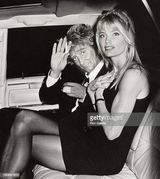 Rod Stewart and Kelly Emberg during Concert Party at Club MK September 27 1988 at Club MK in New York City New York United States
