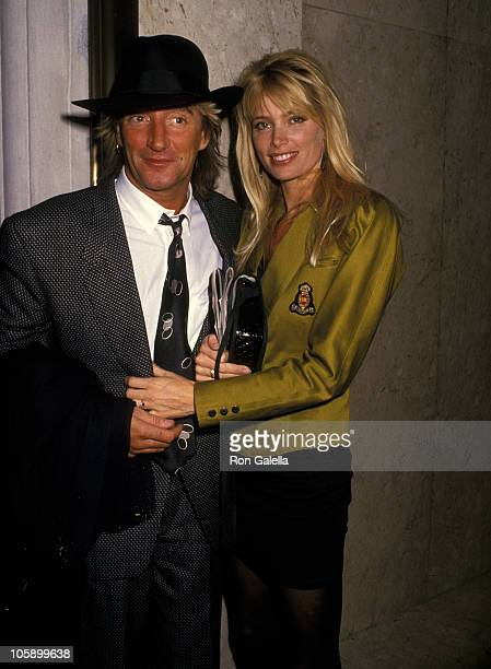 Rod Stewart and Kelly Emberg during Rod Stewart and Kelly Emberg at Carlyle Hotel October 25 1988 at Carlyle Hotel in New York City New York United...