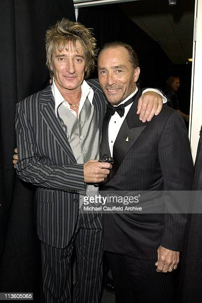 Rod Stewart and Lee Greenwood during Celebrity Fight Night IX with Muhammad Ali Backstage and Show at The Arizona Biltmore Resort and Spa in Phoenix...