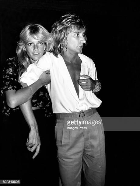 Rod Stewart and Liz Treadwell circa 1977 in New York City