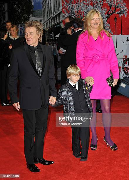 Rod Stewart and Penny Lancaster attend the 3D screening of Hugo as part of the Royal Film Performance at Odeon Leicester Square on November 28 2011...