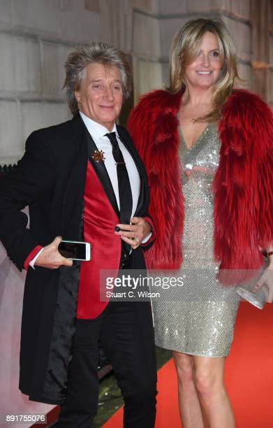 Rod Stewart and Penny Lancaster attend The Sun Military Awards at Banqueting House on December 13 2017 in London England
