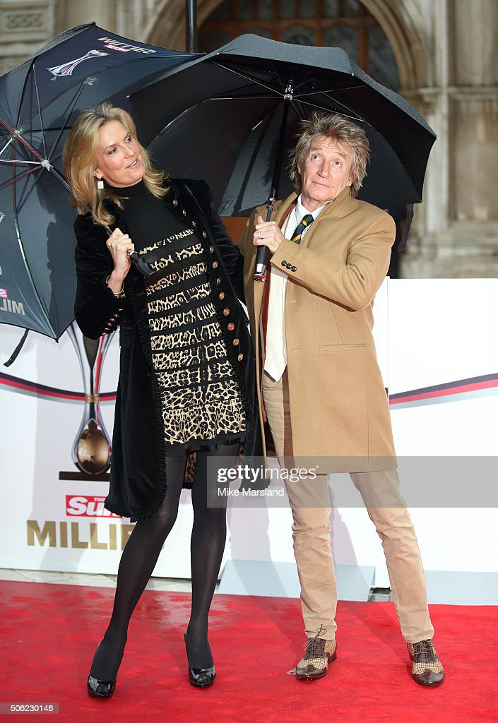 Rod Stewart and Penny Lancaster attend The Sun Military Awards at The Guildhall on January 22, 2016 in London, England.