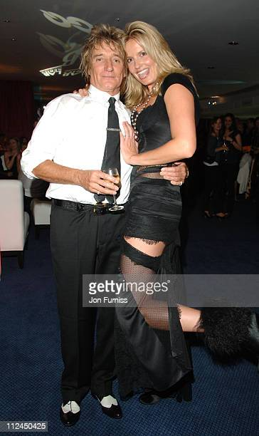Rod Stewart and Penny Lancaster during GQ Men of the Year Awards Drinks Reception at Royal Opera House in London Great Britain