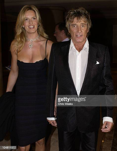Rod Stewart and Penny Lancaster during Party Hosted by Clive Davis for the Release of Rod Stewart's New Album It Had to Be You The Great American...