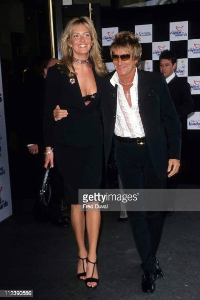 Rod Stewart and Penny Lancaster during Rod Stewart and Penny Lancaster at The Capital FM Awards 2001 at Royal Lancaster Hotel in London, Great...