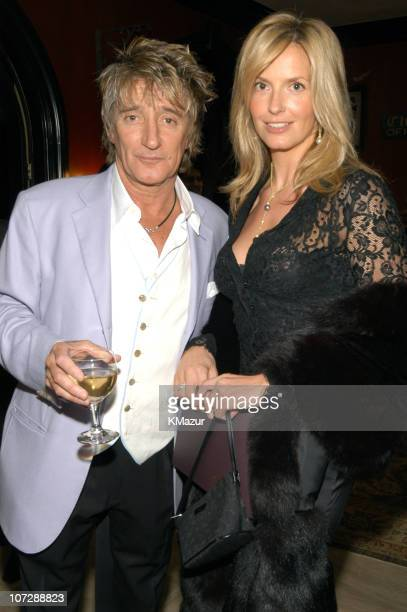 Rod Stewart and Penny Lancaster during Sharon Osbourne and Sir Elton John Join Forces to Raise Funds for Colon Cancer and HIV/AIDS at Sharon and Ozzy...
