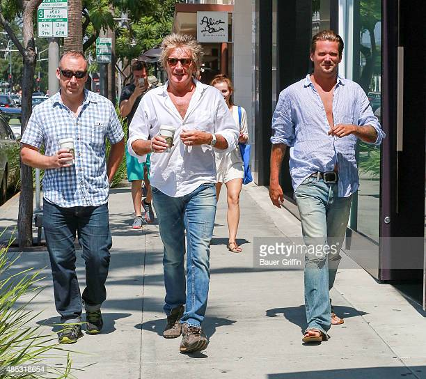Rod Stewart and Sean Stewart are seen on August 26 2015 in Los Angeles California