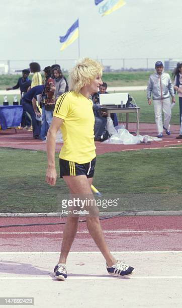 Rod Stewart attends First Annual Rock N Roll Sports Classic on March 12 1978 at the University of California in Irvine California