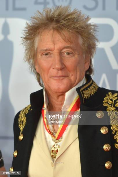 Rod Stewart attends The BRIT Awards 2020 at The O2 Arena on February 18, 2020 in London, England.