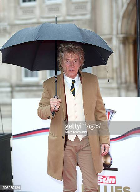 Rod Stewart attends The Sun Military Awards at The Guildhall on January 22, 2016 in London, England.
