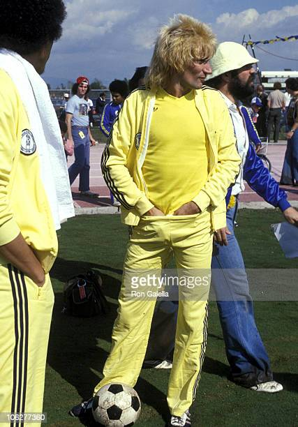 Rod Stewart during 1st Annual Rock N' Roll Sports Classics March 12 1978 at University of California in Irvine California United States