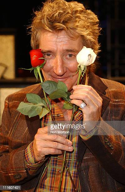 Rod Stewart during 32nd Annual American Music Awards Day Two Rehearsals at Shrine Auditorium in Los Angeles California United States