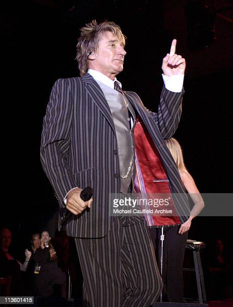 Rod Stewart during Celebrity Fight Night IX with Muhammad Ali Backstage and Show at The Arizona Biltmore Resort and Spa in Phoenix Arizona United...
