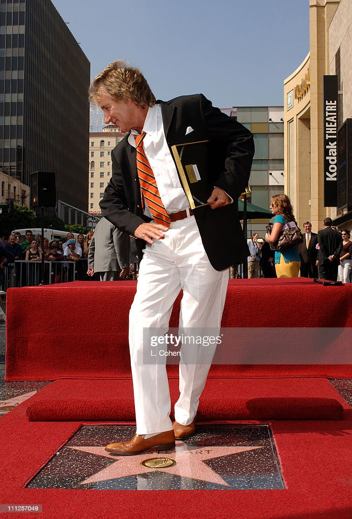 Rod Stewart during Rod Stewart Honored with a Star on the Hollywood Walk of Fame for His Achievements in Music at 6801 Hollywood Blvd. at Hollywood & Highland Complex in Hollywood, California, United States.
