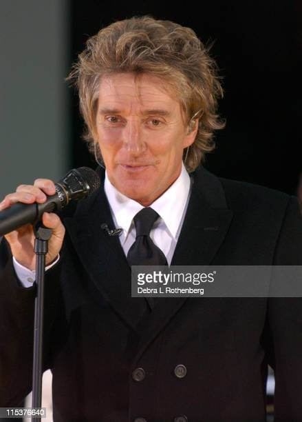 Rod Stewart during Rod Stewart Perfoms on The 'Today' Show 2004 Fall Concert Series October 15 2004 at Rockefeller Center in New York City New York...
