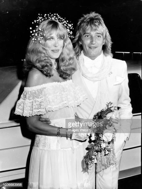 Rod Stewart Marries Alana Hamilton circa 1979 in New York City