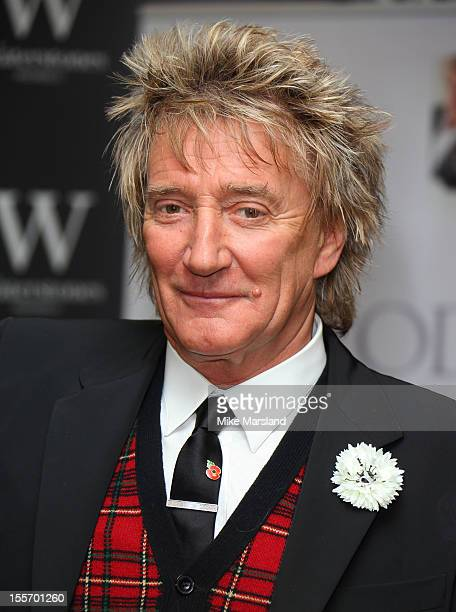 Rod Stewart meets fans and signs copies of his book 'Rod The Autiobiography' at Waterstone's Piccadilly on November 7 2012 in London England