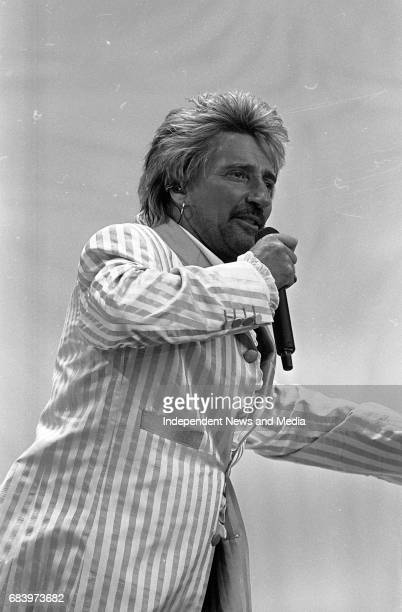 Rod Stewart on stage during his concert in the RDS Arena Dublin