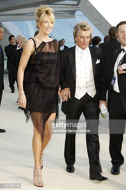 Rod Stewart Penny Lancaster during 2003 Laureus World Sports Awards Arrivals at Grimaldi Forum in Monte Carlo Monaco