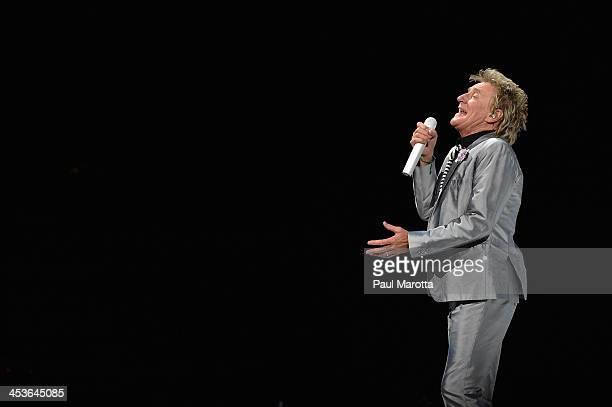 Rod Stewart performs at TD Garden on December 4 2013 in Boston Massachusetts