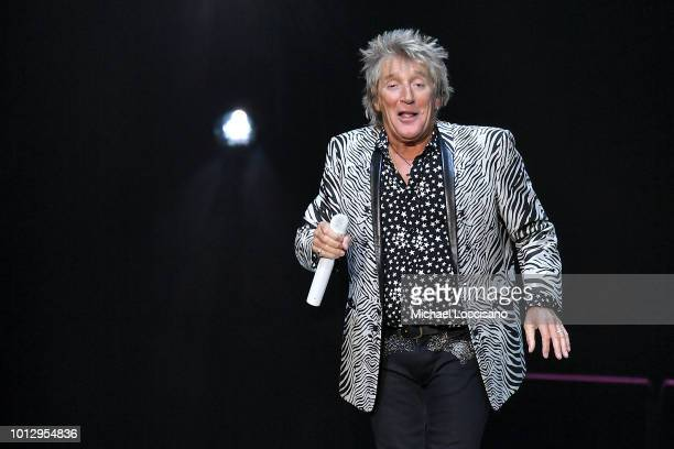 Rod Stewart performs at Madison Square Garden on August 7 2018 in New York City