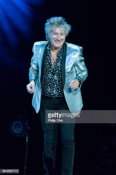 Rod Stewart performs at Rogers Arena on April 10 2018 in Vancouver Canada