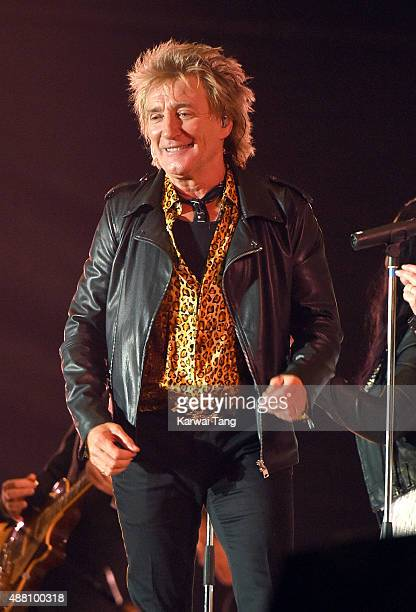 Rod Stewart performs at the BBC Radio 2 Live In Hyde Park Concert at Hyde Park on September 13 2015 in London England