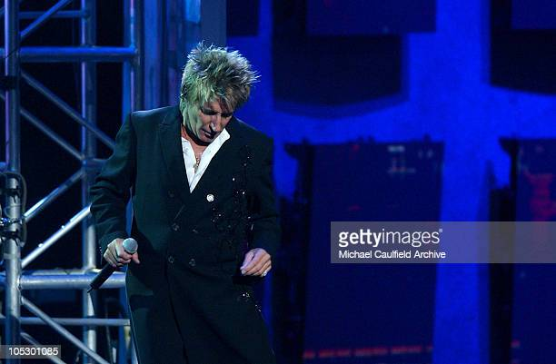 Rod Stewart performs his medley of My Heart Stood Still and Smile