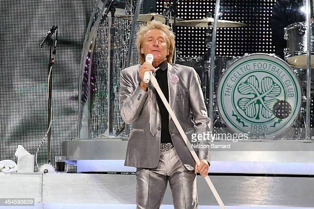 Rod Stewart performs on stage at Madison Square Garden on December 9 2013 in New York New York