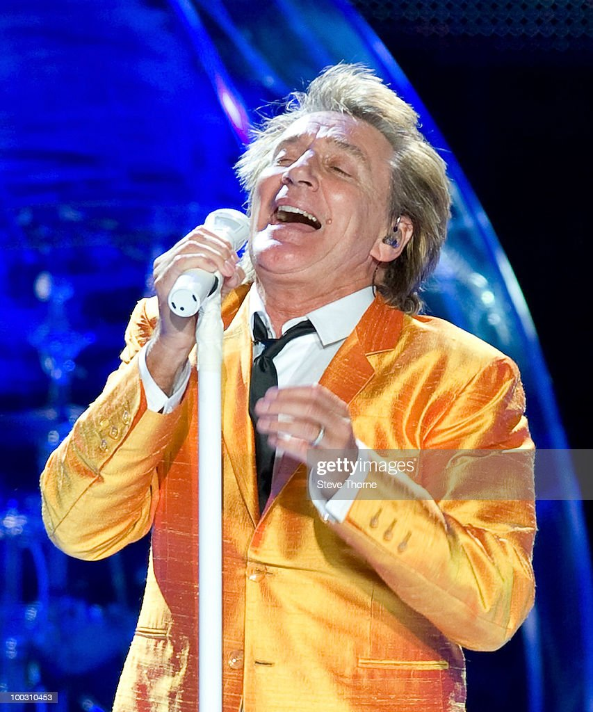 Rod Stewart Performs At National Indoor Arena In Birmingham