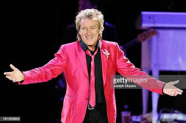 Rod Stewart performs on stage at O2 Arena on September 20 2013 in London England