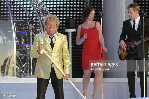 Rod Stewart performs on stage during the third and final day of Hard Rock Calling 2011 at Hyde Park on June 26 2011 in London United Kingdom