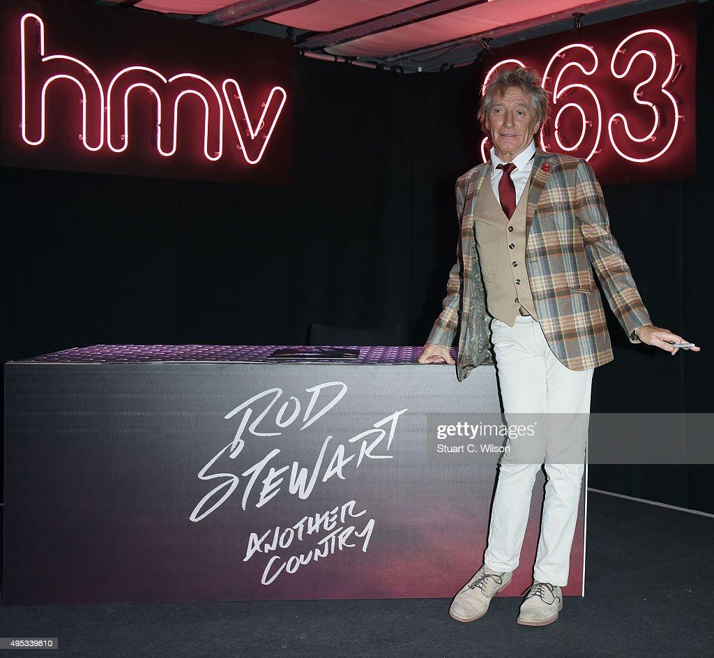 Rod Stewart - London Album Signing