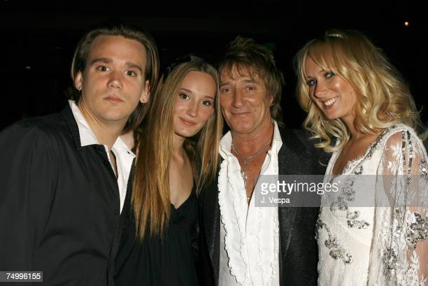 Rod Stewart Sean Stewart Ruby Stewart and Kimberly Stewart