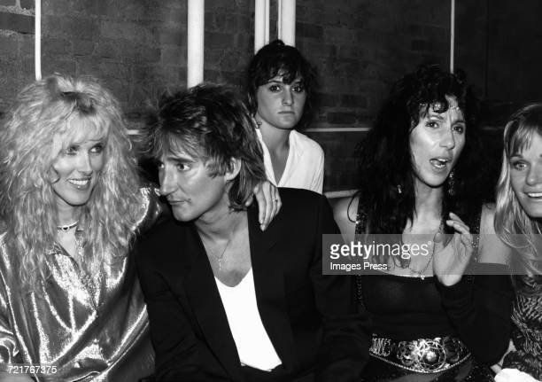 Rod Stewart wife Alana with Cher and Valerie Perrine circa 1981 in New York City