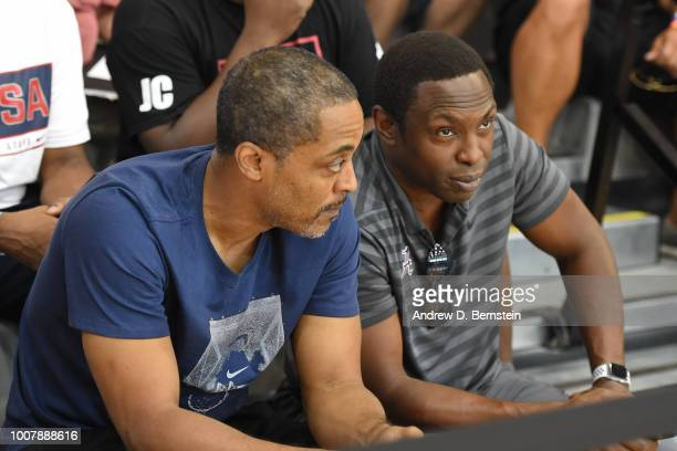 Rod Strickland and Avery Johnson attend USAB Minicamp at Mendenhall Center on the University of Nevada Las Vegas campus on July 27 2018 in Las Vegas...